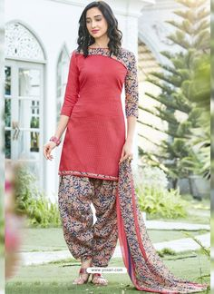 💃 NSASKU : *Presenting Casual Dress Material* Fabric Details:- *Top:- Cotton Blend* *Bottom - Cotton Blend* *Dupatta - Chiffon* *Price:- *Type - Material* *Work - Printed* *Single Available* *Ready to Ship* Salwar Suit Neck Designs, Kurta Neck Design, Neck Designs For Suits, Kurta Designs Women, Dress Neck Designs, Chudidhar Neck Designs, Simple Kurti Designs, Patiala Dress, Patiala Salwar Suits