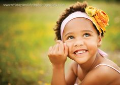 4 year old photo with flower headband: Whimsy & Style photography