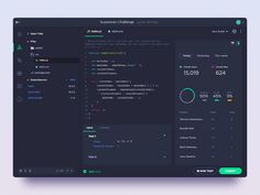 CodeSignal IDE for front-end challenges by Vahan Hovhannisyan on Dribbble Dashboard App, Dashboard Design, Desktop Design, Ui Patterns, App Design Inspiration, Apps, Ui Web, User Interface Design, Web Application