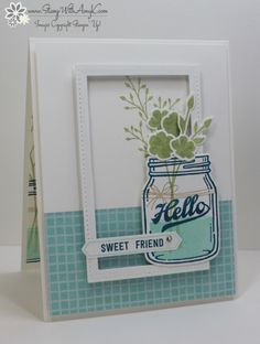 Stampin' Up! Jar of Love With a Frame | Stamp With Amy K | Bloglovin'