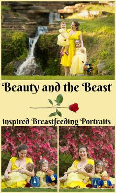 Beauty and the Beast Inspired Breastfeeding Portraits
