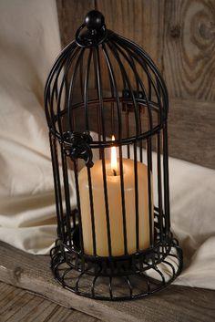 "Birdcage Candleholders 11"" Black Metal $10.99"