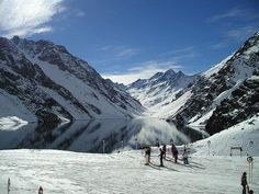 Ski Portillo, Chile. Inca's Lagoon