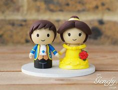 Beauty and the beast  wedding toppers