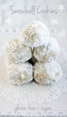 "Snowball cookies! Description... ""A fantastic and easy recipe for delicious snowball cookies. Vegan and gluten free."""