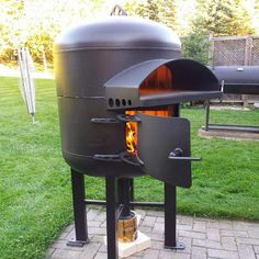 I made a wood fired pizza oven ( Pizza Oven Outside, Gas Pizza Oven, Pizza Oven Outdoor, Pizza Ovens, Outdoor Cooking, Wood Fired Oven, Wood Fired Pizza, Gas Bottle Wood Burner, Mobile Pizza Oven