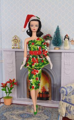 Christmas Holly for Silkstone Barbie by HankieChic on Etsy