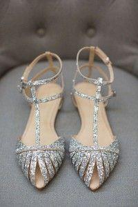 Sandalias bajas plateadas 4