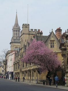 High Street, Oxford, England. High street is the Main Street in most English towns..not Main, like at home.
