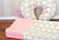 Pink and Grey Whale Nautical Fabric and by LittleAngelsEmporium, $46.00