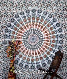 Mandala Tapestry Indian Wall Hanging Bohemian Hippie Queen Bedspread Throw Decor #Handmade #ArtDecoStyle