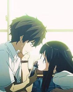 Hyouka-Hotaro and Chitande san Manga Anime, Fanart Manga, Fanarts Anime, Manga Art, Anime Characters, Manga Couple, Anime Love Couple, Cute Anime Couples, Kyoto Animation