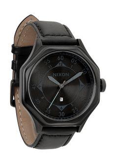 The Falcon Leather in Matte Black / Matte Gunmetal