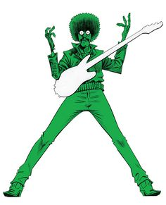 Jamie Hewlett x Pretty Green Collaboration for Teenage Cancer Trust | Illustrations by Jamie Hewlett