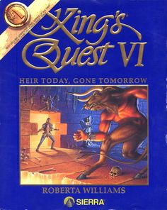 King's Quest VI: Heir Today, Gone Tomorrow - Commodore Amiga - Games Database Vintage Video Games, Classic Video Games, Vintage Games, Retro Games, Geek Games, Games Box, Old Games, Commodore Amiga, Arcade