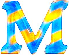 Alfabeto gratis en tonos azules y dorado. | Oh my Alfabetos!