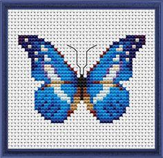 Миниатюры цветов и бабочек для вышивки крестиком