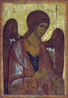 Unknown icon painter, the end of the century; Archangel Michael, From the Deisus Chin (Row) («Vysotsky Aliens And Ufos, Ancient Aliens, Ancient Art, Byzantine Icons, Archangel Michael, Gold Work, Orthodox Icons, St Michael, Sacred Art
