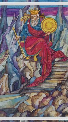 Le roi d'écus - Tarot cristal par Elisabetta Trevisan