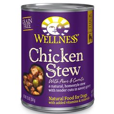 Wellness Thick and Chunky Natural Wet Grain Free Canned Dog Food >>> Review more details here : Dog food brands