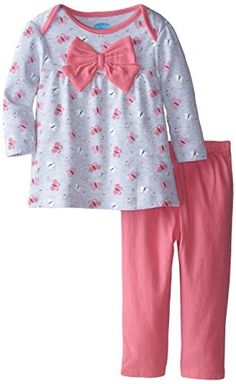 Kids Outfits Girls, Little Girl Outfits, Little Girl Dresses, Baby Girl Bows, Girls Bows, Baby Girls, Baby Girl Leggings, Baby Pants, Kids Dress Wear
