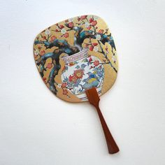 Uchiwa-fan Greeting Card - Plum Flower Hand Held Fan, Plum Flowers, Japanese Prints, Fans, Greeting Cards, Holiday, Gifts, Vacations, Presents