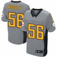 NFL Men's Elite Nike  Pittsburgh Steelers #56 LaMarr Woodley Shadow Grey Jersey  $129.99