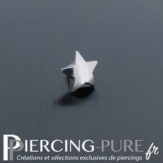 Microdermal étoile en acier de diamètre 4mm. Piercings, Creations, Pure Products, Bird, Jewelry, Fashion, Jewels, Steel, Peircings