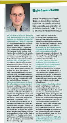 Geschäftsführer Benedikt Gleich im Interview mit der Zeitschrift Oya - anders denken, anders leben