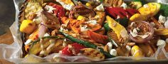 Top grilled vegetables with a creamy balsamic dressing for an extra harvest of fall flavours. Fall Vegetables, Grilled Vegetables, Leftover Turkey Casserole, Creamy Balsamic Dressing, Lemon Basil Chicken, Meatball Stroganoff, Diner Menu, Bruschetta Chicken, Bbq Bacon