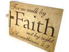 2 Corinthians 5:7 Faith Bible Passage Wall Hanging by KevsKrafts #Frogs With Footprints Mini Desk Clock #Handmade From by @KevsKrafts   http://etsy.me/1oMkOqe via @Etsy #bmecountdown