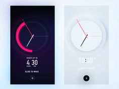 http://www.cadecga.com/category/Alarm-Clock/ Dribbble - Alarm Clock Skin by Gleb…