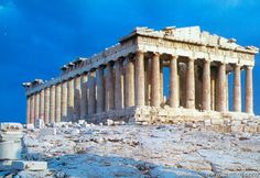 The Parthenon, Temple of Zeus at Olympia in Athens, Greece