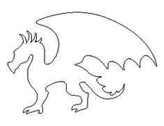 Dragon Cut Out Templates - Bing images Dragon Birthday Parties, Dragon Party, Applique Patterns, Craft Patterns, Stitch Patterns, Silhouette Dragon, Animal Outline, Knight Party, Dragon Crafts