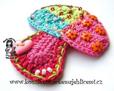 Crochet applique toadstall - Pattern for sale on Etsy.