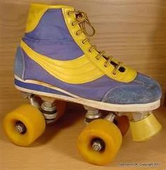 I had these rollerskates. I was the bees knees racing around with these. Pretty good, though I say so myself.