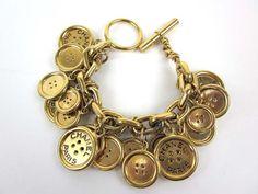 Vintage Chanel button bracelet