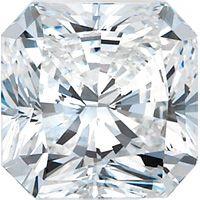 3.01 Carat Radiant Diamond, large top view