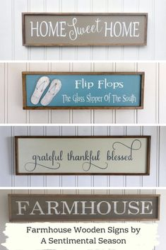 These handmade wooden signs are made for your beatiful farmhouse and porch. Handmade with love and quality wood, and then painted with sayings, the options are endless for your farmhouse kitchen decor or holiday porch. Handmade Signs, Handmade Wooden, Diy Home Decor Projects, Decor Ideas, Wooden Snowmen, Pretty Room, Romantic Cottage, Farmhouse Kitchen Decor, Front Door Decor