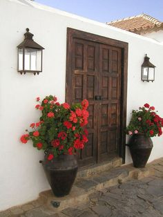 Front Door and Entrance Decorating Ideas. Love that style!