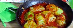Mushroom-Stuffed Cabbage Rolls - these may benefit from stronger spices on the filling and wheat berries or bulgur in the filling.