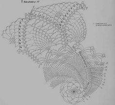 free pattern Crochet Pineapple Doily