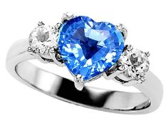 2.60 cttw Original Star K(tm) 925 Genuine Heart Shape Blue Topaz Engagement Ring in .925 Sterling Silver Size 8.  Color: Medium to Light Blue Clarity: Clean, 2 Stones 0.60 Carats Cubic Zirconia Color: Colorless Clarity: Clean.  As of 7/27/2012 sale only $159.99.  http://www.wheretobuyengagementring.net/heart-engagement-ring/2-60-cttw-original-star-ktm-925-genuine-heart-shape-blue-topaz-engagement-ring-in-925-sterling-silver-size-8/