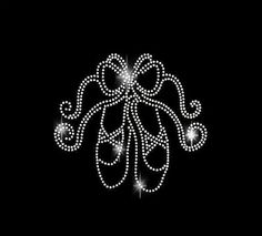 Rhinestone Transfer Ballet Slippers with Ribbons Iron On Bling 34102 $10.00 on…