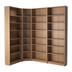 IKEA - BILLY, Regał, dąb, 215/135x237x28 cm, , Regulowane półki; możliwość dopasowania przestrzeni między półkami do własnych potrzebProsty segment może wystarczyć do przechowywania rzeczy na ograniczonej przestrzeni lub może być podstawą większej kombinacji, gdy zmienią się Twoje potrzeby.Powierzchnia wykonana z naturalnej okleiny drewnianej.Wąskie półki pomagają efektywnie wykorzystać miejsce na ścianie, nawet na małych powierzchniach.