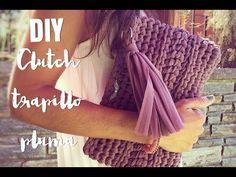 Crochet clutch or easy handbag Bag Crochet, Crochet Clutch, Crochet Diy, Crochet Handbags, Crochet Purses, Love Crochet, Knitting Videos, Crochet Videos, Cotton Cord