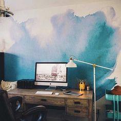 Aquarelle de paroi murale Aquarelle papier peint par anewalldecor