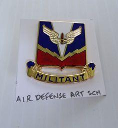 SOLD--- Air Defense Artillery School, U.S. Army DUI Insignia Pin
