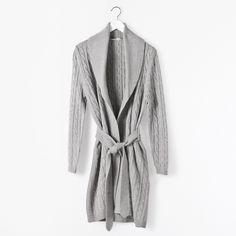 Cable Knit Housecoat - Woman - Homewear | Zara Home Nederland