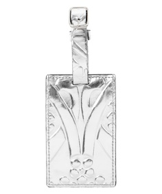 Liberty London Collections collection - Silver metallic Ianthe luggage tag